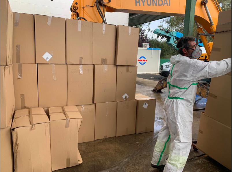 GSA procesa en tres meses más de 150 toneladas de residuos biosanitarios de la COVID-19 en Sevilla